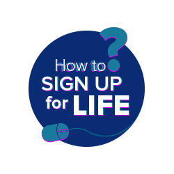 How to sign up for life logo