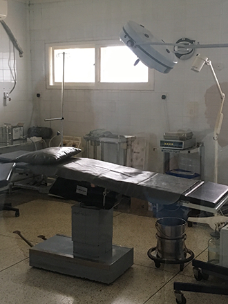 Photo of an operating room in the Agbozume Hospital in Ketu