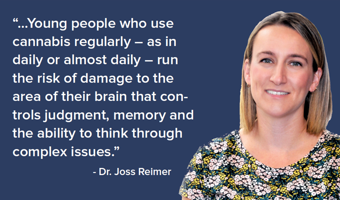 Photo of Dr. Joss Reimer with quote from article