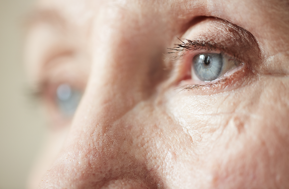 Photo of an elderly woman's eyes