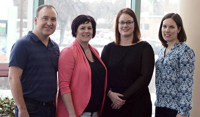 Photo of members of the Deer Lodge Centre collaborative care team